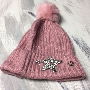 Victoria's Secret Pom Pom And Crystal Hat